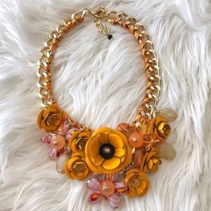 Yellow Mustard Floral Zara Necklace